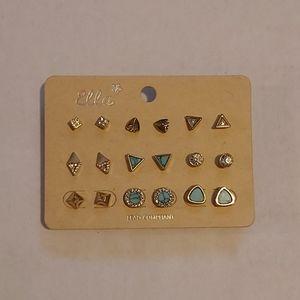 NWT Set of gold earrings